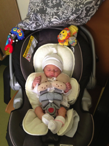 All set to go home from the hospital! Everything was WAY too big on our peanut!