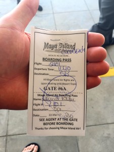 "Our ""boarding pass""- lol"